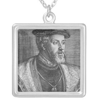 Emperor Charles V, 1531 Silver Plated Necklace