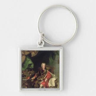 Emperor Charles VI , c.1730, Silver-Colored Square Keychain