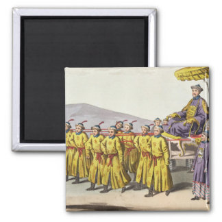 Emperor Ch'ien Lung carried in Triumph, plate 18 f 2 Inch Square Magnet