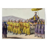 Emperor Ch'ien Lung carried in Triumph, plate 18 f Greeting Card