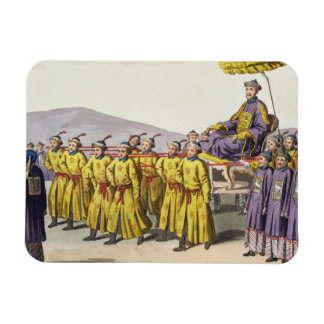 Emperor Ch'ien Lung carried in Triumph, plate 18 f Rectangular Photo Magnet