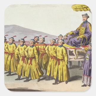 Emperor Ch'ien Lung carried in Triumph, plate 18 f Square Sticker