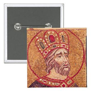 Emperor Constantine I  the Great 2 Inch Square Button