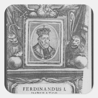 Emperor Ferdinand I , King of Bohemia Square Sticker