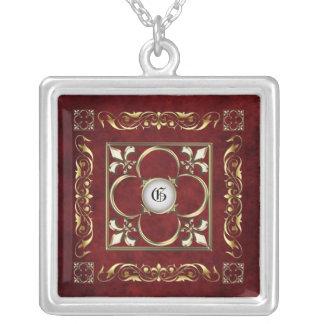 Emperor Fleur De Lis Rosewood Necklace