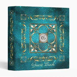 Emperor Fleur De Lis Teal Guest Book Binder