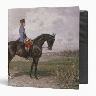 Emperor Franz Joseph I on his Austrian horse 3 Ring Binder