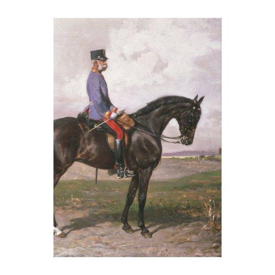 Emperor Franz Joseph I on his Austrian horse Canvas Print