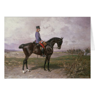 Emperor Franz Joseph I on his Austrian horse Card