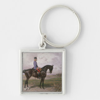 Emperor Franz Joseph I on his Austrian horse Keychain