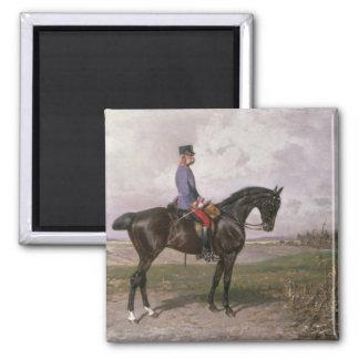Emperor Franz Joseph I on his Austrian horse Magnet