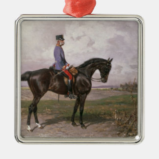 Emperor Franz Joseph I on his Austrian horse Metal Ornament