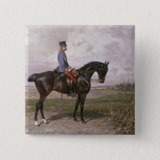 Emperor Franz Joseph I on his Austrian horse Pinback Button