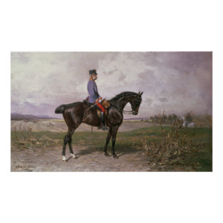 Emperor Franz Joseph I on his Austrian horse Poster