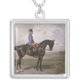 Emperor Franz Joseph I on his Austrian horse Silver Plated Necklace