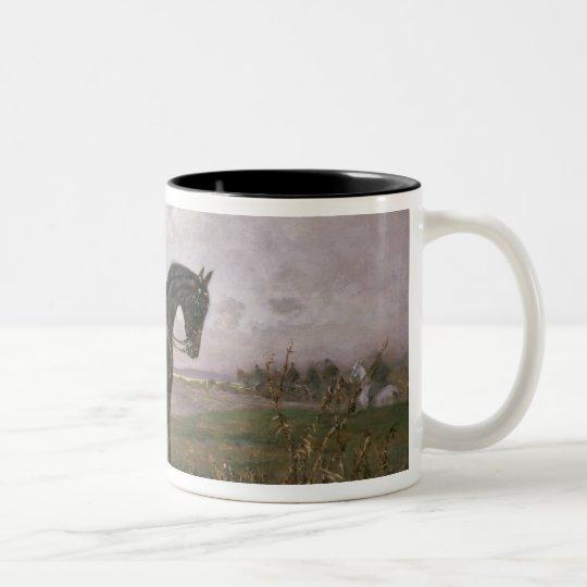 Emperor Franz Joseph I on his Austrian horse Two-Tone Coffee Mug