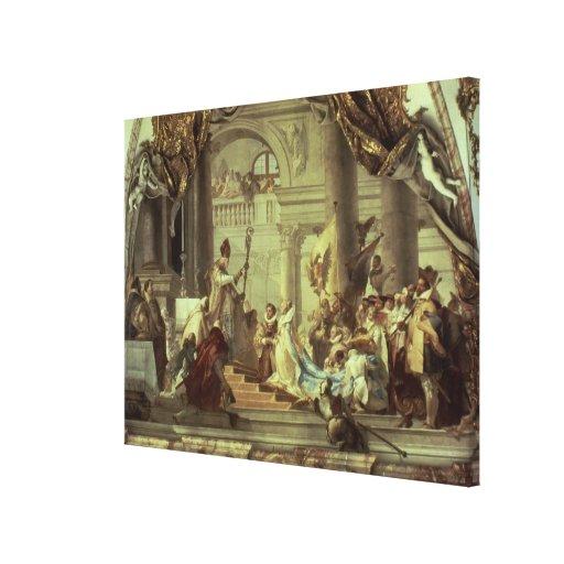 Emperor Frederick Barbarossa's wedding Gallery Wrap Canvas