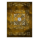 Emperor Gold Fleur Stained Glass Table Card