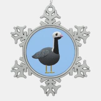 Emperor Goose Snowflake Pewter Christmas Ornament
