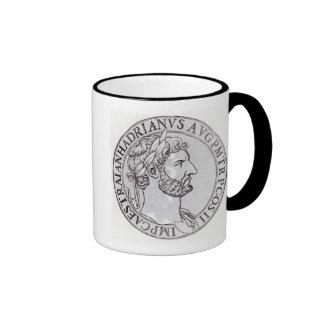 Emperor Hadrian Ringer Coffee Mug