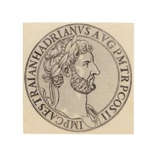 Emperor Hadrian Wood Wall Art