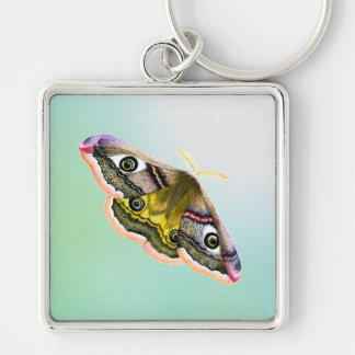 Emperor Hawk Moth Painting Watercolour Keychain