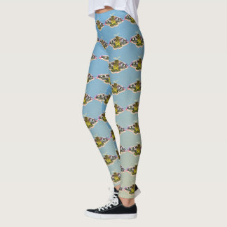 Emperor Hawk Moth Painting Watercolour Leggings