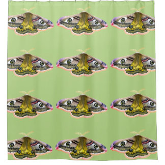 Emperor Hawk Moth Painting Watercolour Shower Shower Curtain