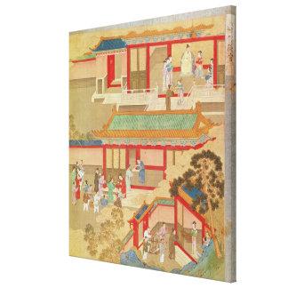 Emperor Hsuan Tsung  at home Canvas Print