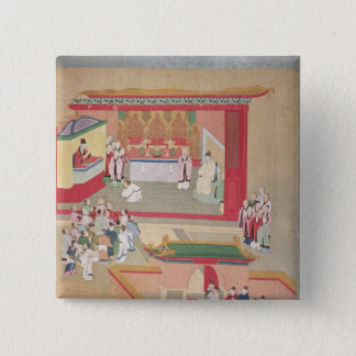 Emperor Hui Tsung  practising with the Buddhist Button