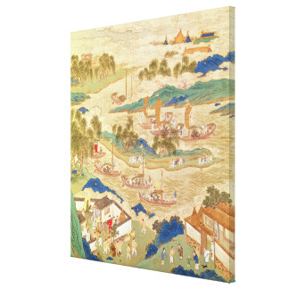 Emperor Hui Tsung  transporting pierced stones Canvas Print