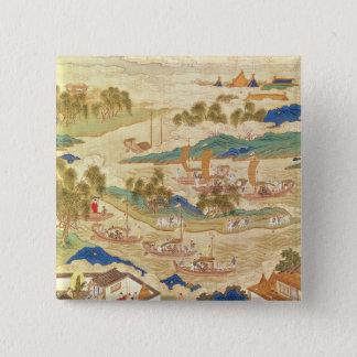 Emperor Hui Tsung  transporting pierced stones Pinback Button