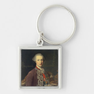 Emperor Joseph II of Germany Silver-Colored Square Keychain