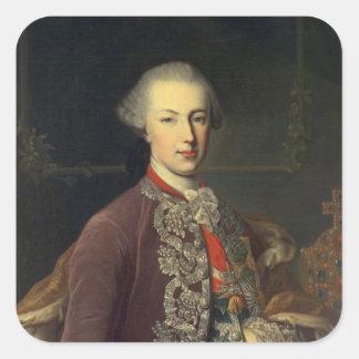 Emperor Joseph II of Germany Square Stickers