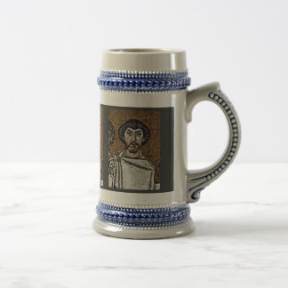 Emperor Justinian And His Court, And Bishop Maxim Beer Stein