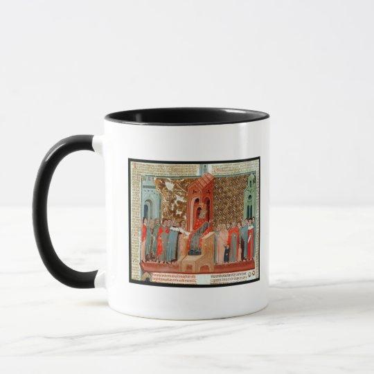 Emperor Justinian  and his court Mug