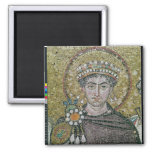 Emperor Justinian I  c.547 AD 2 Inch Square Magnet