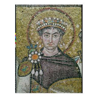 Emperor Justinian I  c.547 AD Postcard