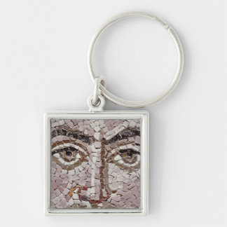 Emperor Justinian I  c.547 AD Silver-Colored Square Keychain