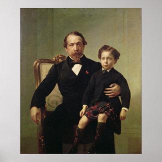 Emperor Louis-Napoleon Bonaparte  and his son Poster