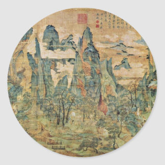 Emperor Ming Huang On A Visit To Shu By Li Chao-Ta Classic Round Sticker