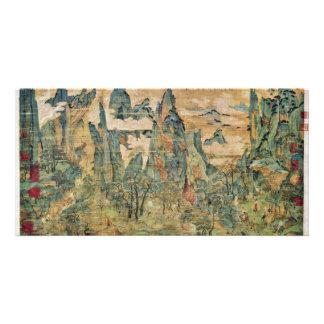 Emperor Ming Huang On A Visit To Shu By Li Chao-Ta Custom Photo Card