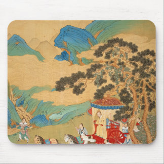 Emperor Mu Wang  of the Chou Dynasty in Mouse Pad