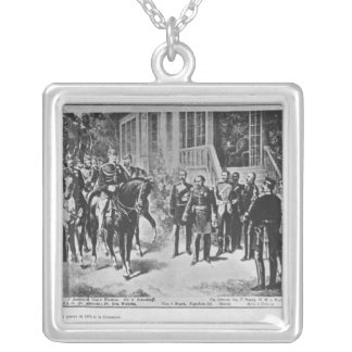 Emperor Napoleon III and Kaiser Wilhelm I Silver Plated Necklace