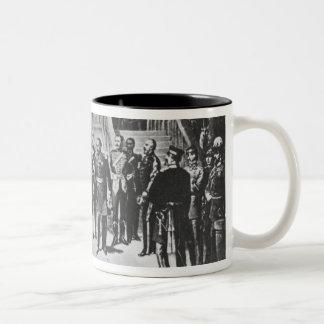 Emperor Napoleon III and Kaiser Wilhelm I Two-Tone Coffee Mug