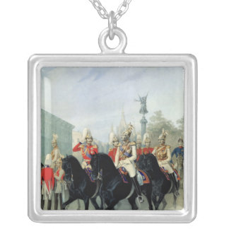 Emperor Nicholas I  and Grand Duke Alexander Silver Plated Necklace