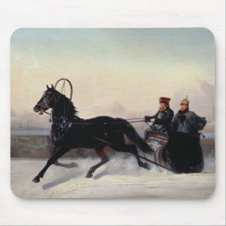 Emperor Nicholas I  Driving in a Sleigh Mouse Pads