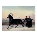 Emperor Nicholas I  Driving in a Sleigh Postcard