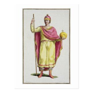 Emperor Otto III (980-1002), engraved by Pierre Du Postcard