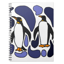 Emperor Penguin Art Abstract Design Notebook